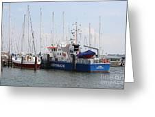 Coast Guard Maasholm Harbor Greeting Card