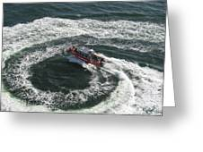 Coast Guard Ship - Port Of Los Angeles Greeting Card