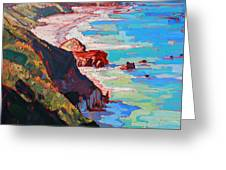 Coast Line Greeting Card by Erin Hanson