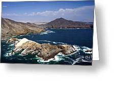 Coast Of Peru Greeting Card