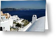 Coast Of Santorini Greeting Card