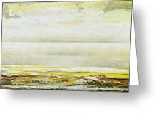 Coast Rhythms And Textures Yellow And Sepia 1  Greeting Card by Mike   Bell
