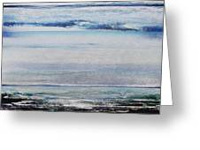 Coast Rhythms And Texturesblueand Silver 1 Greeting Card