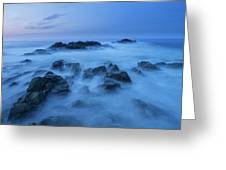 Coastal Landscape At Trollskjeran Greeting Card