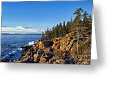 Coastal Maine Landscape. Greeting Card