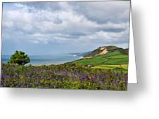 Coastal Overlook From Eype Greeting Card