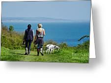 Coastal Path Walk Greeting Card