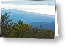 Coastal Range And Clouds From West Point Inn On Mount Tamalpias-california Greeting Card
