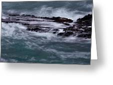 Coastal Rocks Off Rancho Palo Verdes Photography By Denise Dube Greeting Card