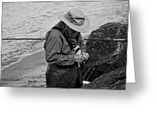 Coastal Salmon Fishing Greeting Card