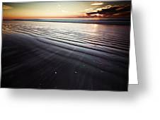 Coastal Sunrise Seascape Contemporary Relaxing Wall Art On Canvas Prints Greeting Card