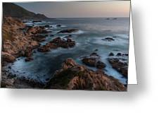 Coastal Tranquility Greeting Card by Mike Reid