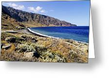 Coastline Of Hierro Island Greeting Card