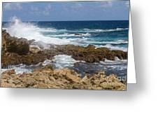 Coastline Surge Greeting Card
