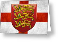 Coat Of Arms And Flag Of England Greeting Card