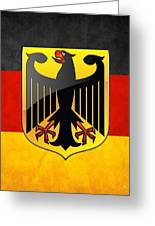 Coat Of Arms And Flag Of Germany Greeting Card