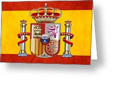 Coat Of Arms And Flag Of Spain Greeting Card