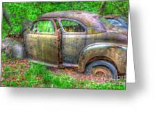 Coat Of Different Colors- Auto Personalities #3 Greeting Card