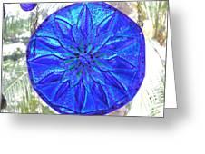 Cobalt Mandala  Greeting Card