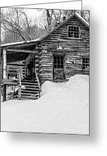 Slayton Pasture Cobber Cabin Trapp Family Lodge Stowe Vermont Greeting Card