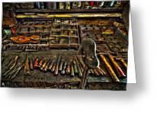 Cobblers Tools Greeting Card