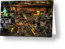 Cobblers Workbench Greeting Card