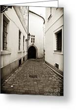 Cobblestone Walk Greeting Card