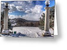 Cobbs Hill Park In Winter Greeting Card