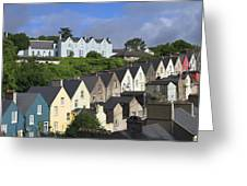 Cobh Town Houses Greeting Card