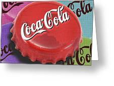 Coca-cola Cap Greeting Card by Tony Rubino