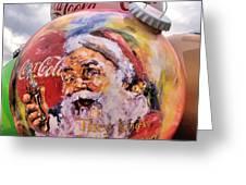 Coca Cola Christmas Bulbs Greeting Card