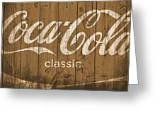 Coca Cola Classic Barn Greeting Card