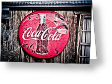 Coca Cola Greeting Card by Merrick Imagery