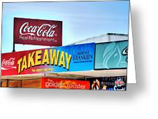 Coca-cola - Old Shop Signage Greeting Card by Kaye Menner