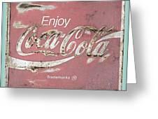 Coca Cola Pastel Grunge Sign Greeting Card