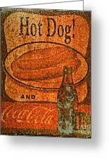 Coca Cola Rusty Sign Greeting Card