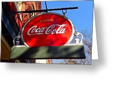 Coca Cola Sign In Georgia Greeting Card