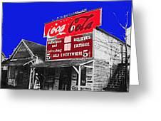 Coca-cola  Sign Palace Cafe Sumter South Carolina 1912-2013   Greeting Card