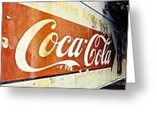 Coca Cola Sign  Greeting Card