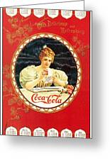 Coca - Cola Vintage Poster Calendar Greeting Card