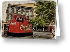 Coca-cola Greeting Card by Wayne Gill