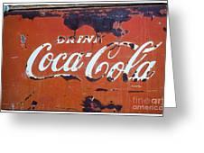 Cocacola Ice Box Greeting Card