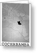 Cochabamba Street Map - Cochabamba Bolivia Road Map Art On Color Greeting Card