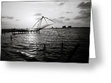Dusk At Cochin Greeting Card