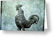 Cock Greeting Card by Bernard Jaubert