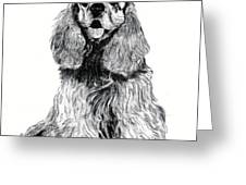 Cocker Spaniel Puppy Greeting Card
