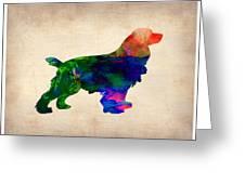 Cocker Spaniel Watercolor Greeting Card by Naxart Studio