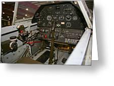 Cockpit Of A P-40e Warhawk Greeting Card