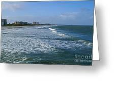 Cocoa Beach Seascape Greeting Card