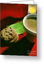Coffee And Cookies At The Cafe Greeting Card